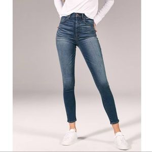 Abercrombie Super High Rise Skinny Jeans